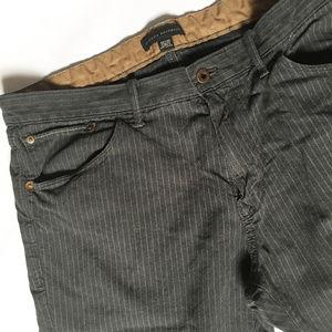 Banana Republic charcoal pinstripe jeans
